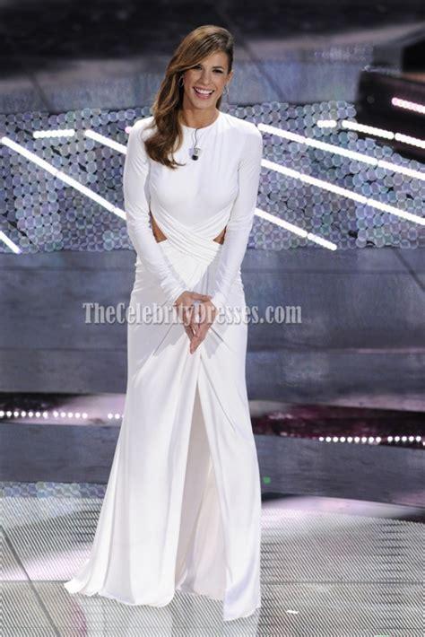 elisabetta canalis wedding dress elisabetta canalis white cut out gown prom dress sanremo