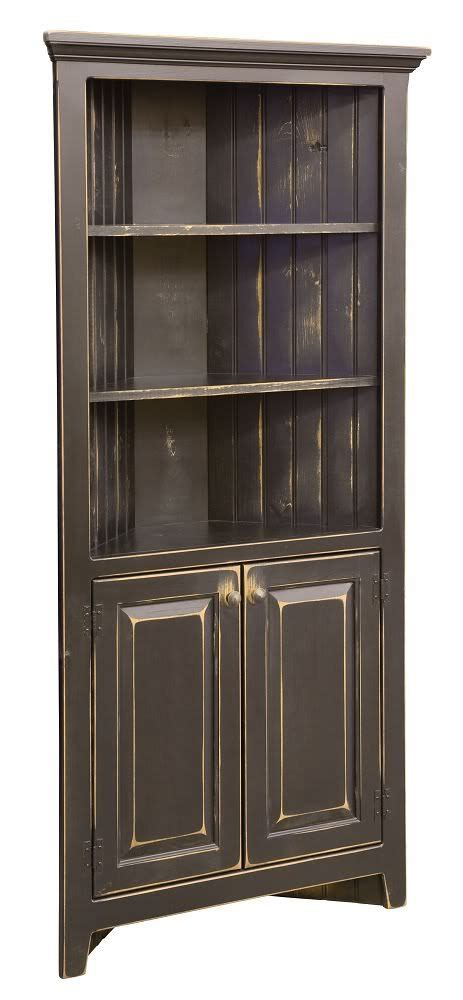 Black Corner Cabinet For Kitchen Amish Corner Cabinets Kitchen Bathroom Storage Solid Wood Black Count