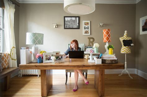 how to setup a home office in a small space inside peek at our bright work space matchmade event co
