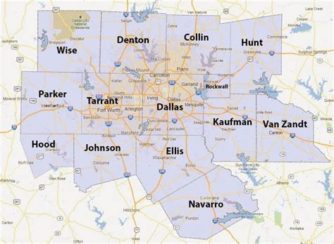 ft worth map dfw county map fort worth county map usa
