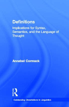 Routledge Outstanding Dissertations In Linguistics by Outstanding Dissertations In Linguistics Routledge