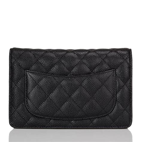 Chanel Classic Quilted Woc by Chanel Black Classic Quilted Caviar Wallet On Chain Woc