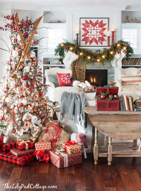 christmas homes decorated 40 cozy and cheerful homes decorated for a snowy christmas