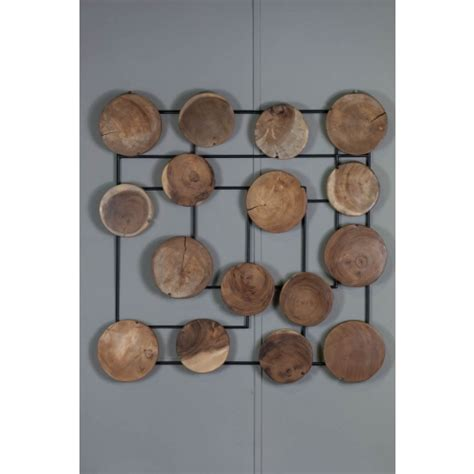 Decoration En Bois Murale by D 233 Coration Murale Abstraite Bois De Suar Deco Contemporaine