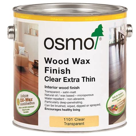 osmo wood wax finish extra thin 1101 wood finishes direct