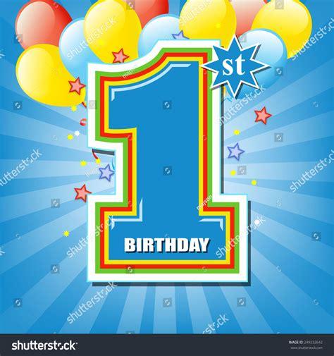backdrop design for birthday boy happy first birthday background stock vector 249232642