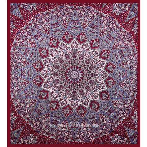 indian pattern wall hanging maroon indian star hippie mandala tapestry wall hanging