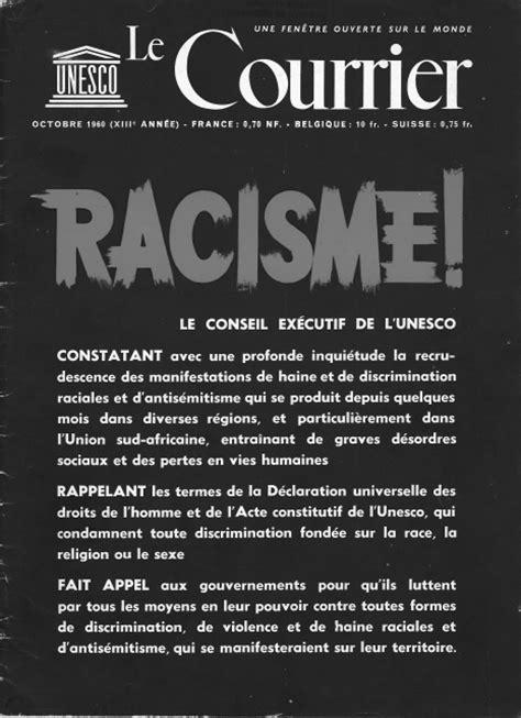 Exemple De Lettre Ouverte Contre Le Racisme 171 La Question Des Races