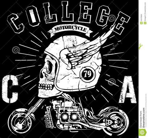 Poster Beard Barbershop Quotes Skull 1 vintage biker skull emblem stock vector image of elegance