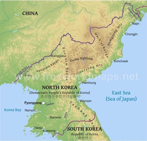 5 themes of geography north korea korean physical features gallery