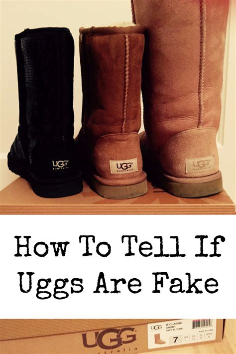 How To Tell If A L Is Real by How Can You Tell The Difference Between Real Uggs And