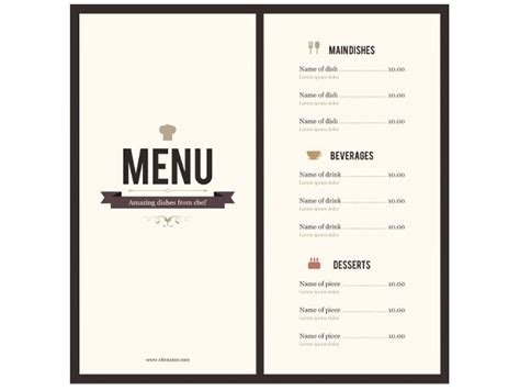 Free Hotel Menu Card Template by 8 Menu Templates Excel Pdf Formats