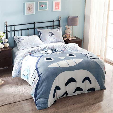 totoro bed set totoro queen size bedding set anime crazy store