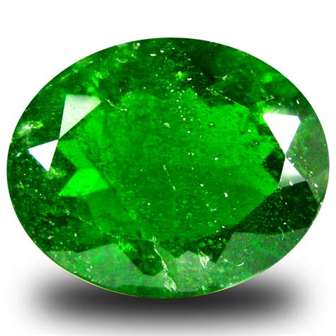 Green Diopside 3 13 ct best oval shape 10 x 8 mm green chrome diopside