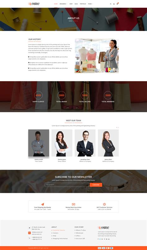 Fabric E Commerce Psd Template By Bootscore Themeforest Fabric Website Templates