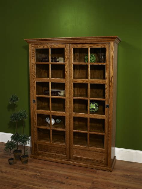 farmside wood 24 sliding door bookcase