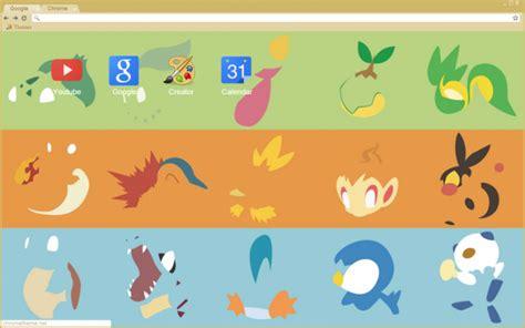themes google chrome pokemon pokemon starters chrome theme themebeta