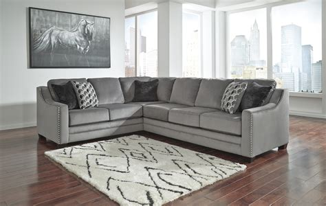 ashley sofa sectional bicknell charcoal sectional sofa by ashley furniture 86204