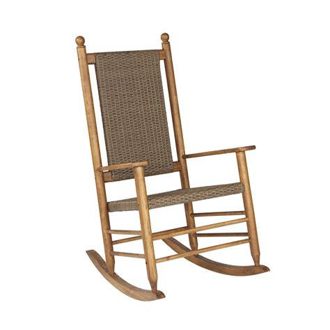 Garden Rocking Chair Shop Garden Treasures Wicker Mesh Seat Outdoor Rocking Chair At Lowes