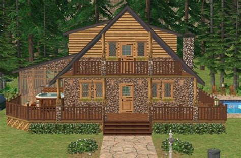 Family Cabin Vacations by Mod The Sims Family Vacation Cabin