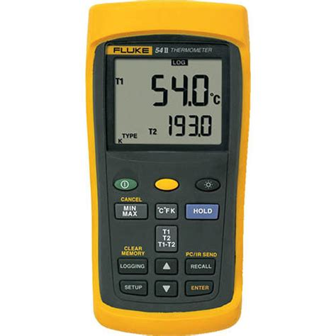 fluke 54 2 b 60hz dual input digital thermometer with data logging at the test equipment depot