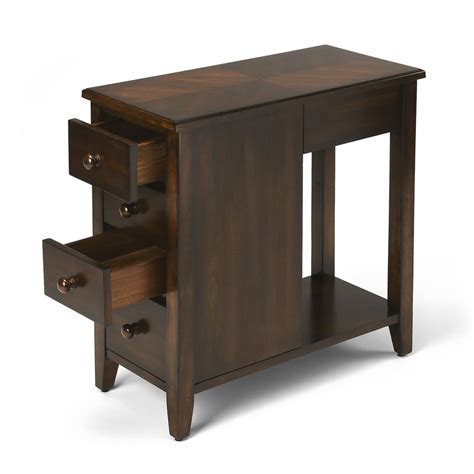 chairside tables with storage chairside storage table with drawers levenger