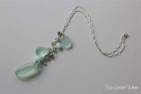 sea glass jewelry diy sea glass necklace my girlish whims