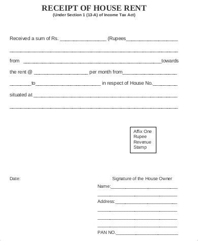 house rent receipt template india 5 sle house rent receipts sle templates
