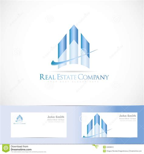 Blue House Realty by Blue Real Estate Logo Design Stock Vector Image 53938912