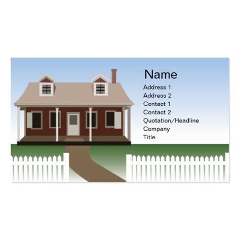 house business card template house business business card template zazzle