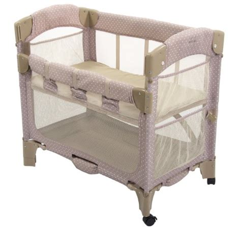 Arms Reach Bedside Co Sleeper by Arm S Reach Concepts Mini Arc Co Sleeper Bedside Bassinet Toffee Dot Babitha Baby World