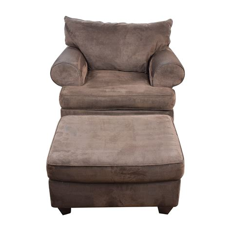 sofa chair with ottoman 67 off dark brown sofa chair with ottoman chairs
