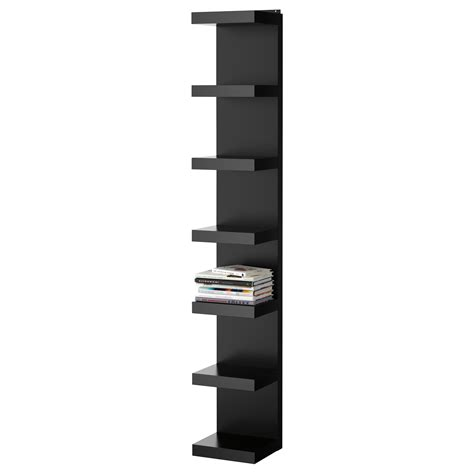 etagere ikea schwarz lack wall shelf unit black 30x190 cm ikea