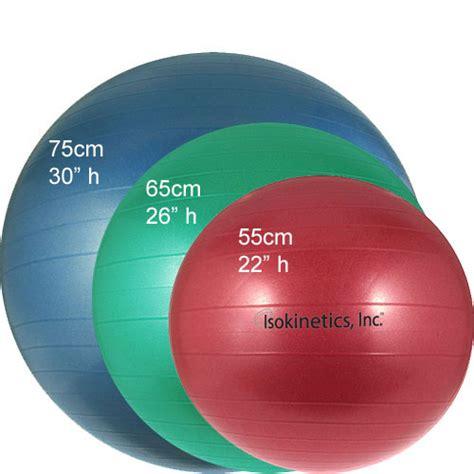 what size exercise ball for isokinetics inc anti burst exercise ball 55cm for