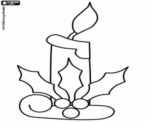 candela di natale da colorare disegni di candele di natale da colorare e stare