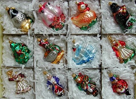 12 days of christmas decorations ornaments set
