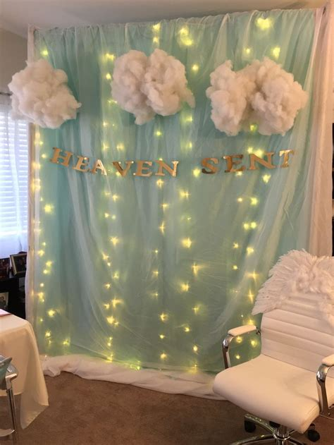 heaven themed decorations best 25 baby shower ideas on