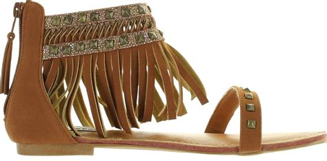 gladiator sandals with fringe not s python gladiator fringe sandals ebay