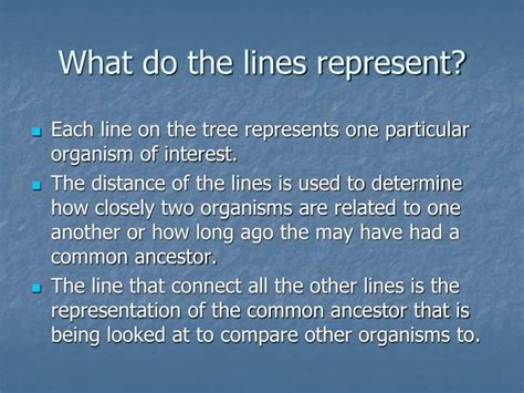 what does a tree represent ppt what is a phylogenetic tree powerpoint presentation