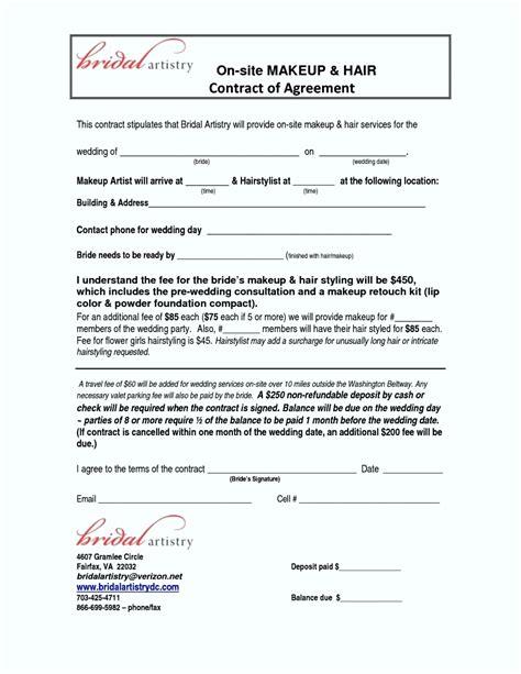 hair salon agreement hair stylist contract agreement template update234 com