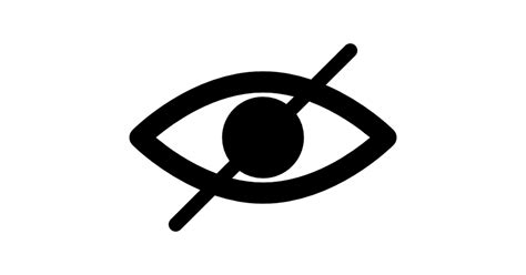 One Day Blind Blind Symbol Of An Opened Eye With A Slash Free