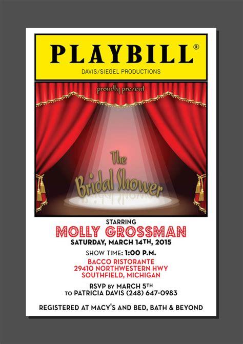 PLAYBILL theater wedding Bridal Shower Broadway New York