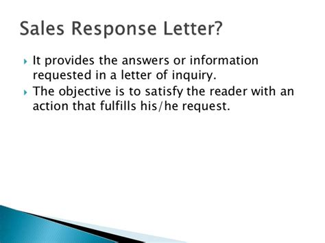 Sales Response Letter Definition Writing A Sales Response Letter