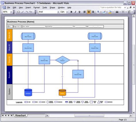 Process Design Templates Ms Word Excel Visio Business Process Flow Template