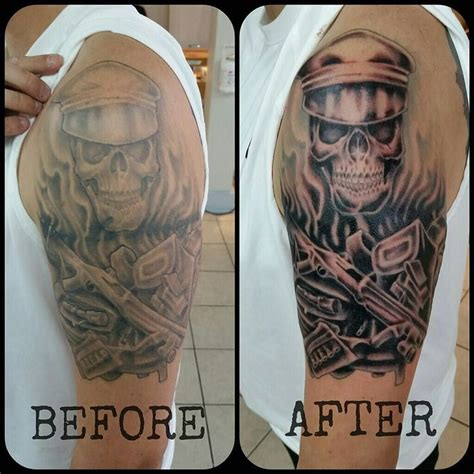 tattoo fading over time this skull got a lift it s amazing how much
