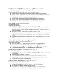 Emr Trainer Cover Letter by Emr Resume Sle Healthcare Consultant Resume Sle The Resume Clinic Epic Emr Resume