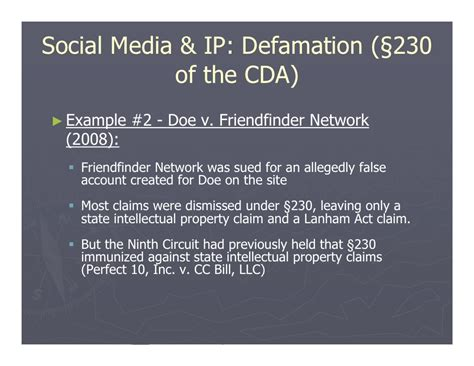 section 230 cda social media implications for intellectual property law