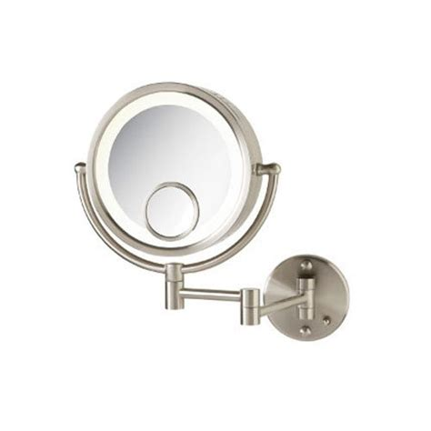 jerdon lighted magnifying mirror jerdon hl8515n 8 5 inch lighted wall mount makeup mirror