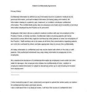 Patient Confidentiality Letter 32 Word Confidentiality Agreement Templates Free Free Premium Templates