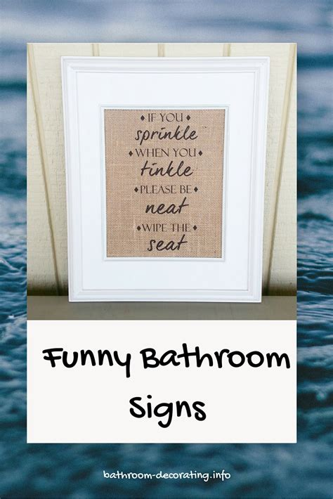 bathroom decor signs funny bathroom signs for home